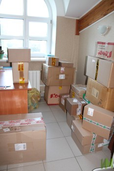 Канцелярские товары в коробках
