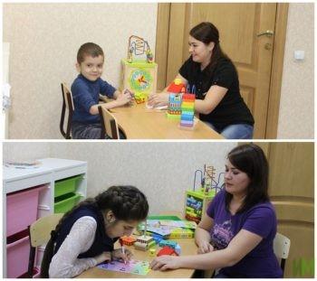 На занятии в детской комнате