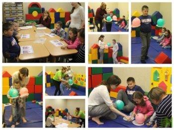 Занятия в детской комнате
