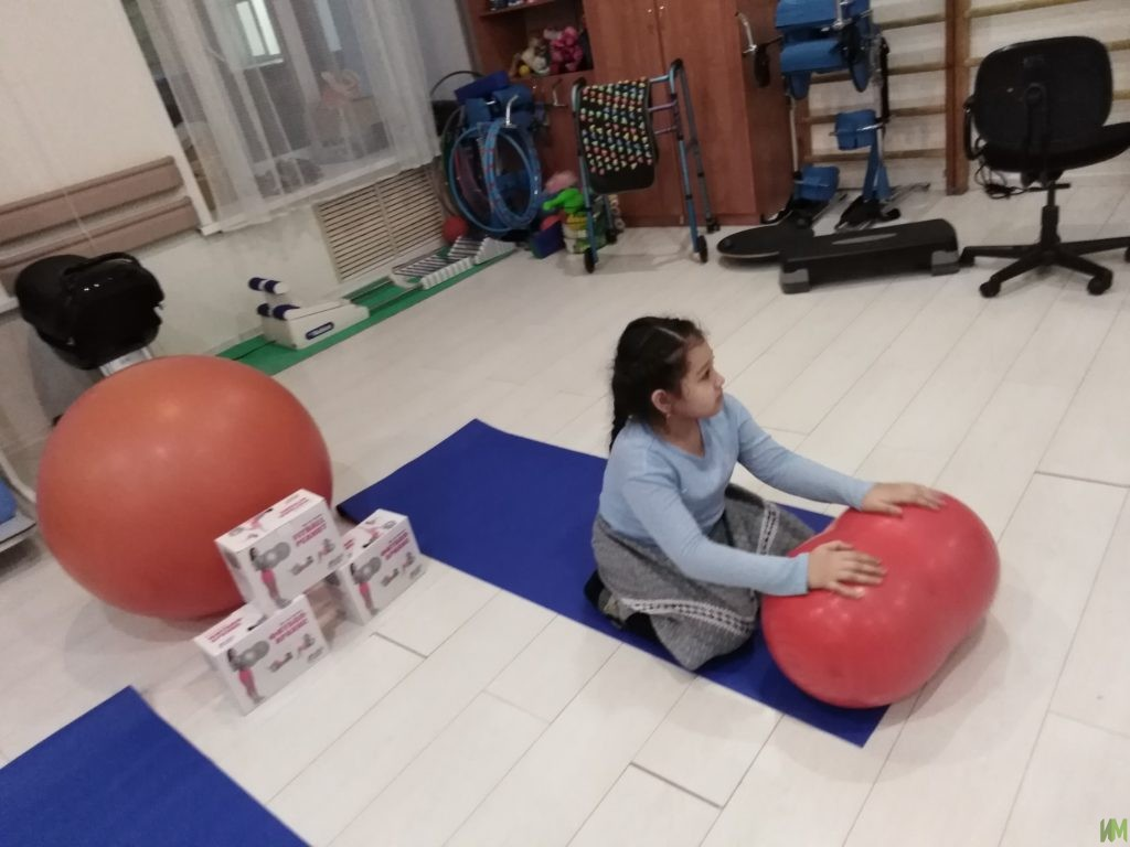 15 фитбольных мячей «Арахис» и 15 гимнастических матов для воспитанников с ОВЗ лицея №78 «Фарватер»