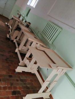 Парты и стулья для Шарканской школы-интернат